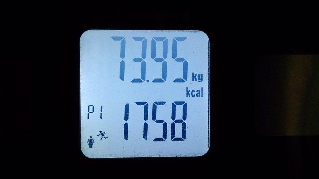 私の減量前体重は、74kgでした。